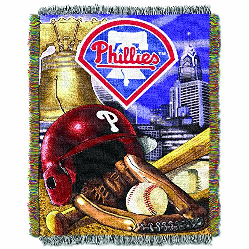 The Northwest Company MLB Philadelphia Phillies Home Field Advantage Woven Tapestry Throw, 48