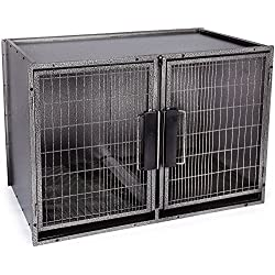 ProSelect Large Modular Kennel Cage Graphite