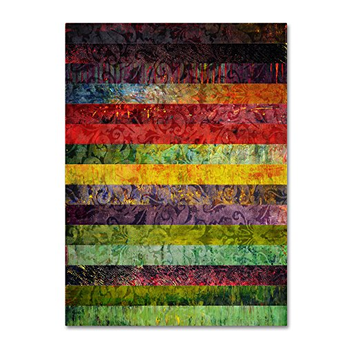"picture of Trademark Fine Art ""Brocade and Fifteen Stripes 3"" Artwork by Michelle Calkins, 24 by 32-Inch"