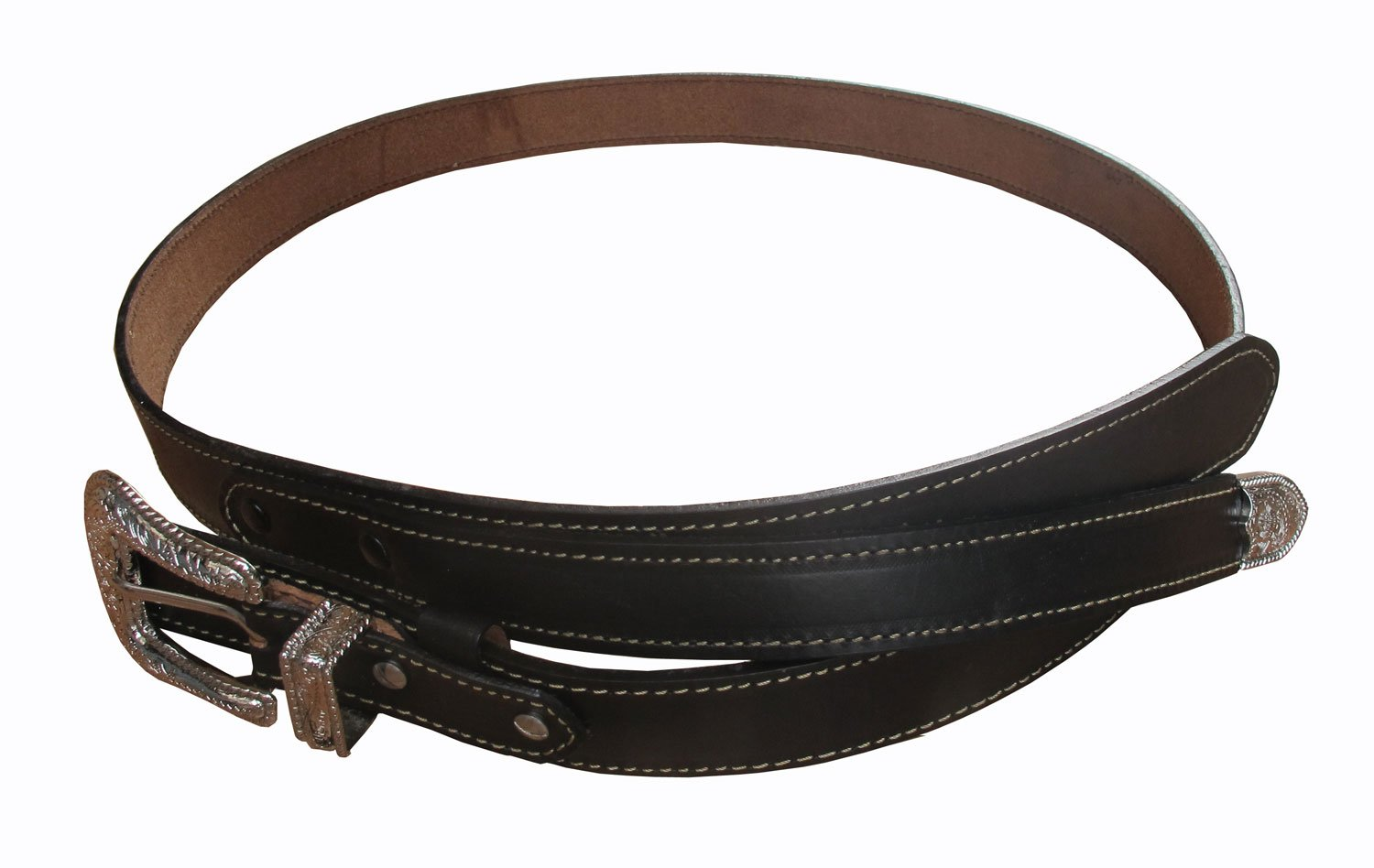 Danai Presents. VERY 6 PCS X NICE BELT @ BUCKLE GENUINE LEATHER SILVER TONE by Thai (Image #3)