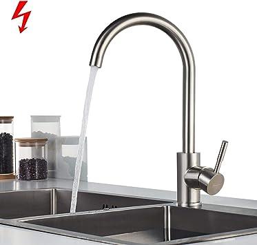 360° Küchenarmatur Niederdruck Spültisch Armatur Wasserhahn Küche Einhebel Spüle