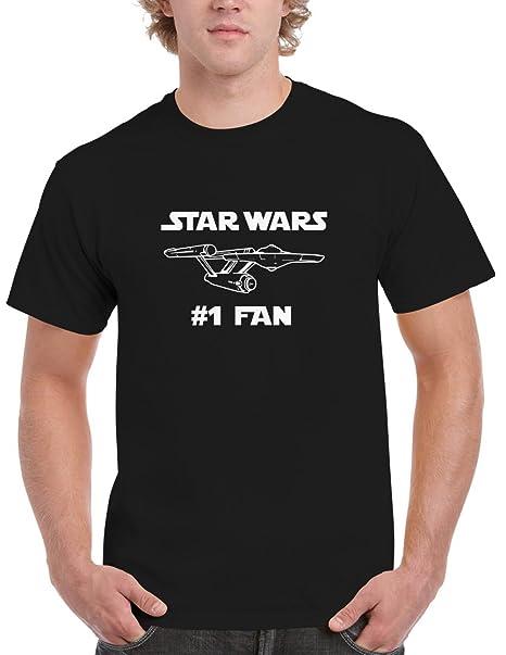 ab0c44a62 Amazon.com: Blue Bubble Tees BBT Mens Star Wars #1 Fan Star Trek USS ...
