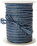May Arts 1/8-Inch Wide Ribbon, Navy with White Stitched Center