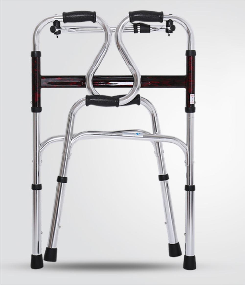 LUCKYYAN Drive Healthcare YC8209 Thickened aluminum alloy Folding Walking Frame with Rear Wheels , a by LUCKYYAN (Image #5)