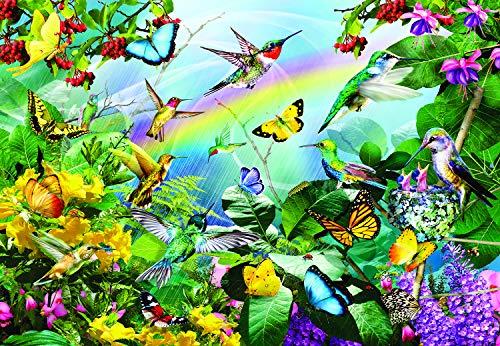 Sunsout 2019 Hummingbird Flight by Artist Lori Schory 200 Piece Birds Jigsaw Puzzle ()
