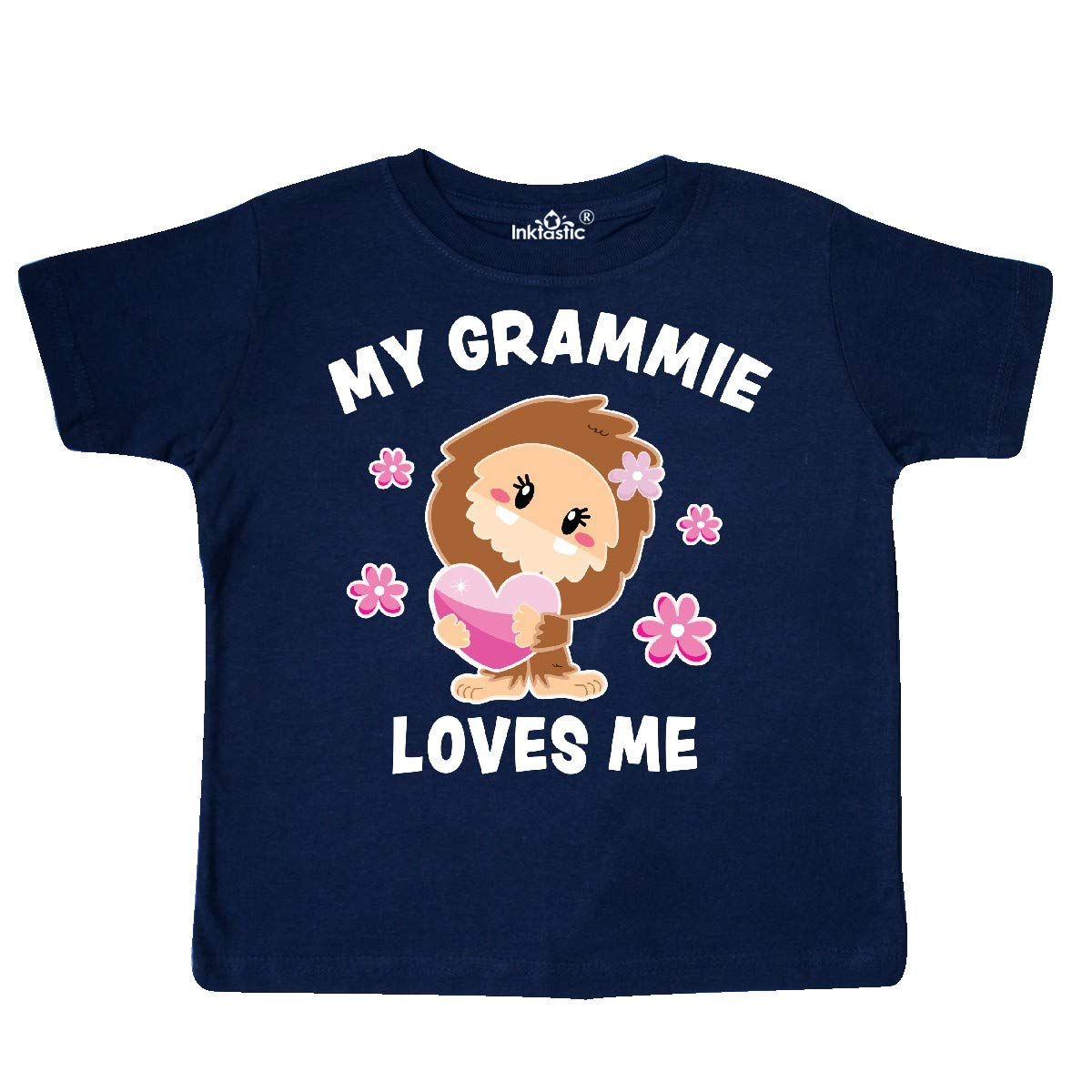inktastic My Grammie Loves Me with Bigfoot Toddler T-Shirt