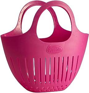 Hutzler Mini Colander garden basket, Small, Pink