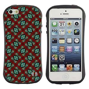 DesignCase Premium TPU / ABS Hybrid Back Case Cover Apple iPhone 5 / 5S ( cute flower )