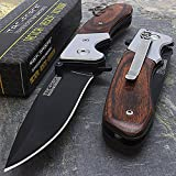 Snake Eye Tactical Everyday Carry Ultra Smooth One Hand Opening Folding Pocket Knife - Ideal for Recreational Work Hiking Camping