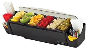 "San Jamar BD4006S 10 Piece The Dome Garnish Center, 3qt Capacity, 22"" Length x 7-1/2"" Width x 8-1/2"" Height"