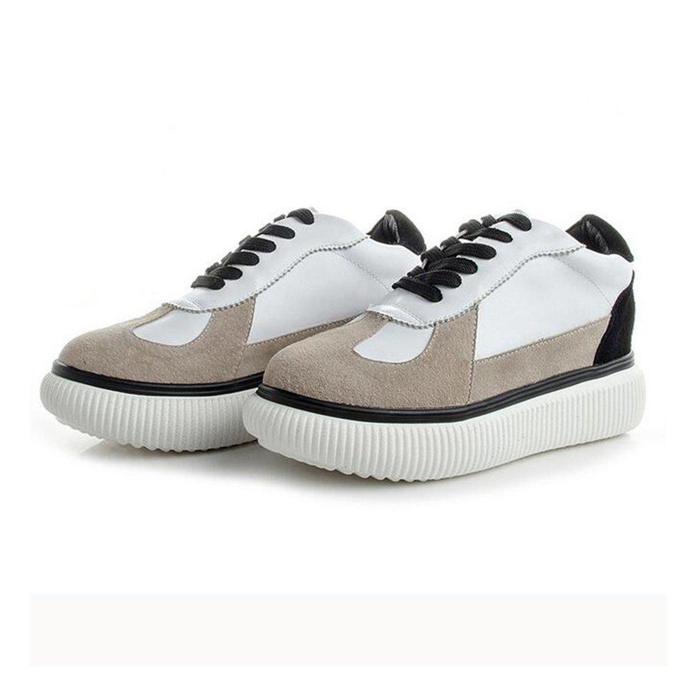 Damenschuhe 2018 Spring Fall Little Weiß Schuhe Neue Leder Freizeitschuhe Damen Breathable Turnschuhe Mode-Reisen-Schuhe B 36