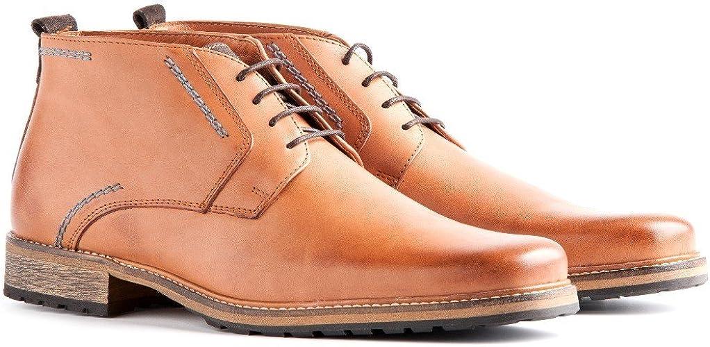 Travelin' London Leder Chukka Boots | Business Schuhe mit Schnürsenkel | In vielen Farben