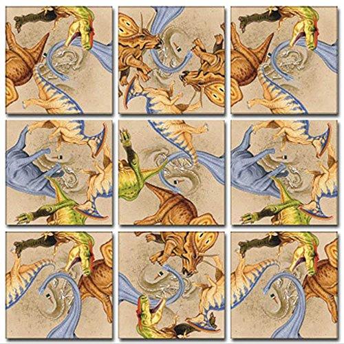 - B Dazzle Diggin Dinos Scramble Squares 9 Piece Puzzle
