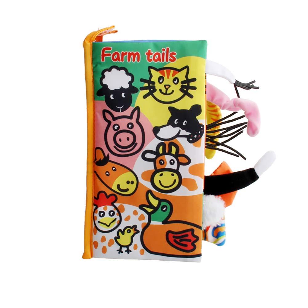 Tela ambiental libros ingleses sobre los animales de granja para la educaci/ón temprana 1PC del beb/é