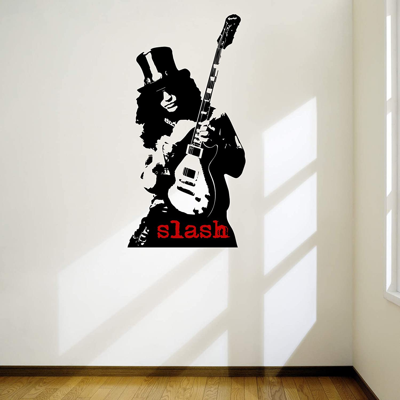 Slash Pro diseño adhesivo guitarrista Arte de la pared guitarra ...