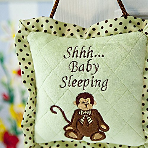 Let The Visiter Know That Its Naptime For Baby With Cute Monkey Pillow