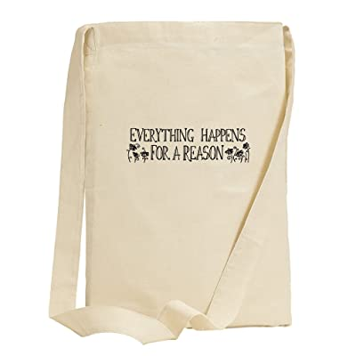 high-quality Everything Happens For A Reason #1 Canvas Sling Tote Bag