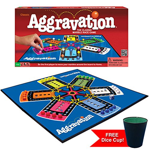 Aggravation w/free dice cup by Winning Moves Games