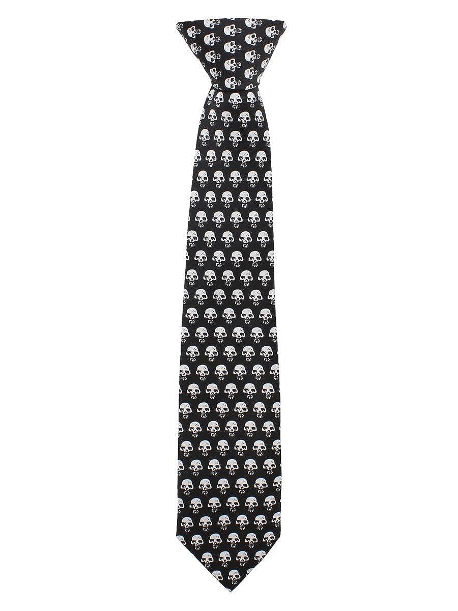 Repetición de diseño de calavera negro y corbata blanca: Amazon.es ...