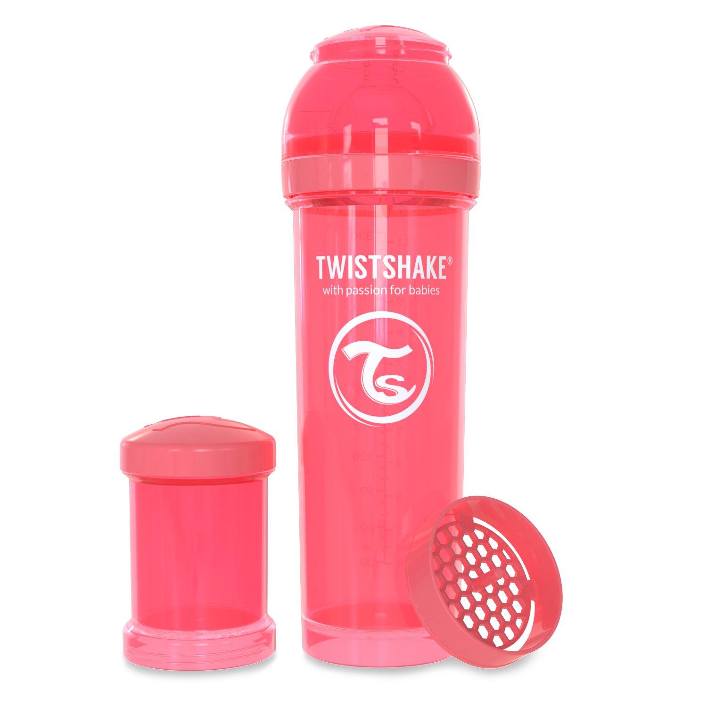 Twistshake - Biberón anticólico tetina silicona (330 ml ...