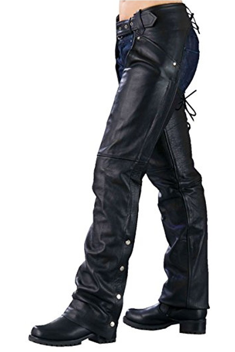 Ladies Biker Chaps with Lacing on the Back