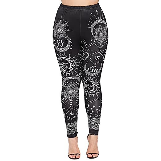 ec5f334ada11e Amazon.com: Memela Women Fitness Gym Clothes,Womens Plus Size Sexy Leggings  Trousers Print Elastic Yoga Fitness Sports Pants: Clothing