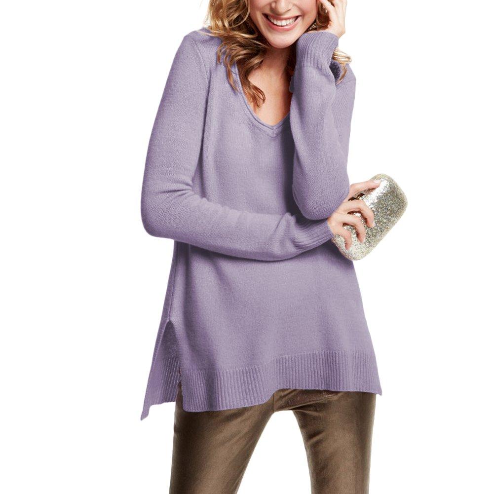 Parisbonbon Women's 100% Cashmere V-Neck Sweater Color Parma Size 3X