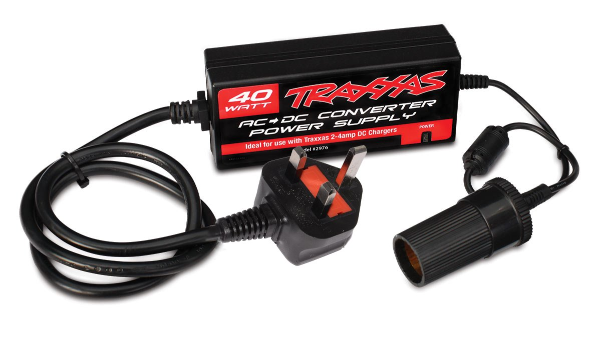 Traxxas 40 W Mains To 12 V Power Supply With Uk Plug Download Image Ac Dc Converter 12v 110v Circuit Pc Android Iphone Toys Games