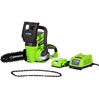 Deals on Greenworks 10-Inch 24V Cordless Chainsaw 20362 w/Battery