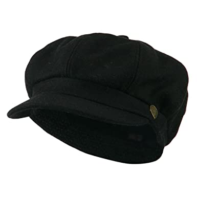 City Hunter Wool Solid Spitfire Hat - Black at Amazon Men s Clothing ... 69df71494b6