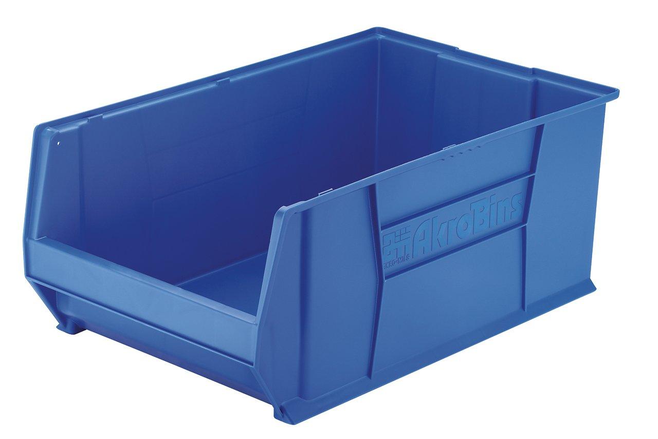 Akro-Mils 30290 29-Inch D by 18-Inch W by 12-Inch H Super Size Plastic Stacking Storage Akro Bin, Blue