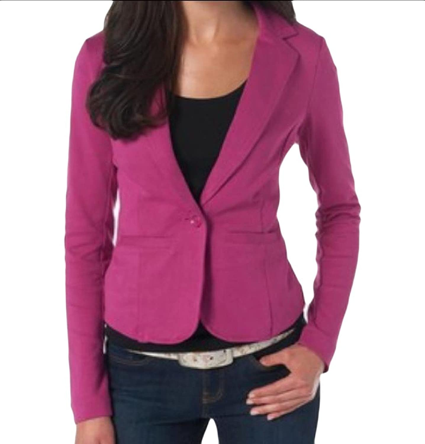 AngelSpace Women Casual Long Sleeve One Button Work Blazer Jacket Suits supplier