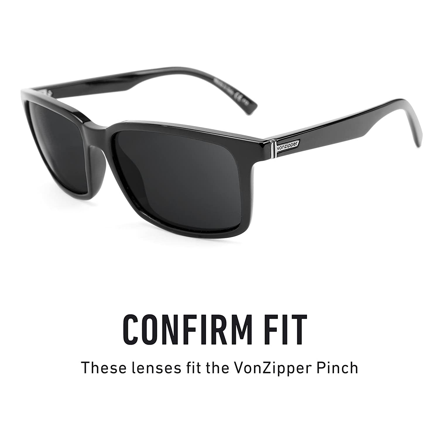 cfbe0d5c98e Amazon.com  Revant Polarized Replacement Lenses for VonZipper Pinch Elite  Black Chrome MirrorShield  Sports   Outdoors