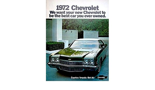1972 CHEVROLET CAPRICE IMPALA BEL AIR CAR BROCHURE