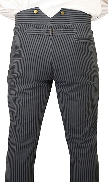 86cb1968 Men's High Waist Edgar Striped Cotton Trousers
