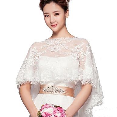 a3dc45f1b2718 (HeartSunny) 結婚式ボレロ レースケープ P018 透明花柄レースボレロ サーキュラー・