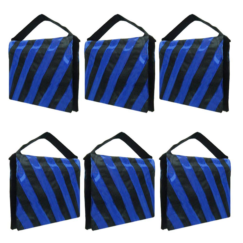 Julius Studio Heavy Duty Blue Stripe Weight Sandbags for Light Stand Tripod, Photo Video Studio, JSAG254 by Julius Studio