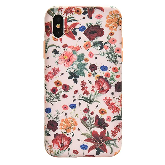 buy online 62637 2ed52 Velvet Caviar for iPhone Xs Case & iPhone X Case Floral Flower - Protective  Cover - Cute Phone Cases for Girls & Women [Drop Test Certified] (Pink ...