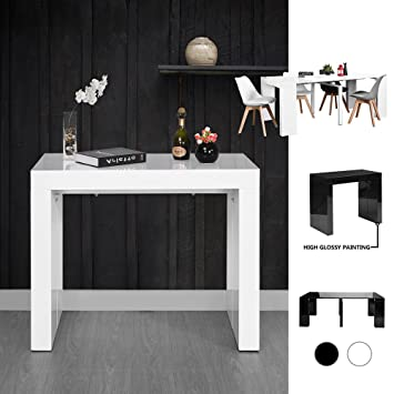 Fanilife Weihnachten Erweiterbar Esstisch 45u2013199 Cm Hochglanz Verstellbarer  Langer Erweiterbar Möbel Esstisch Konsole Beistelltisch