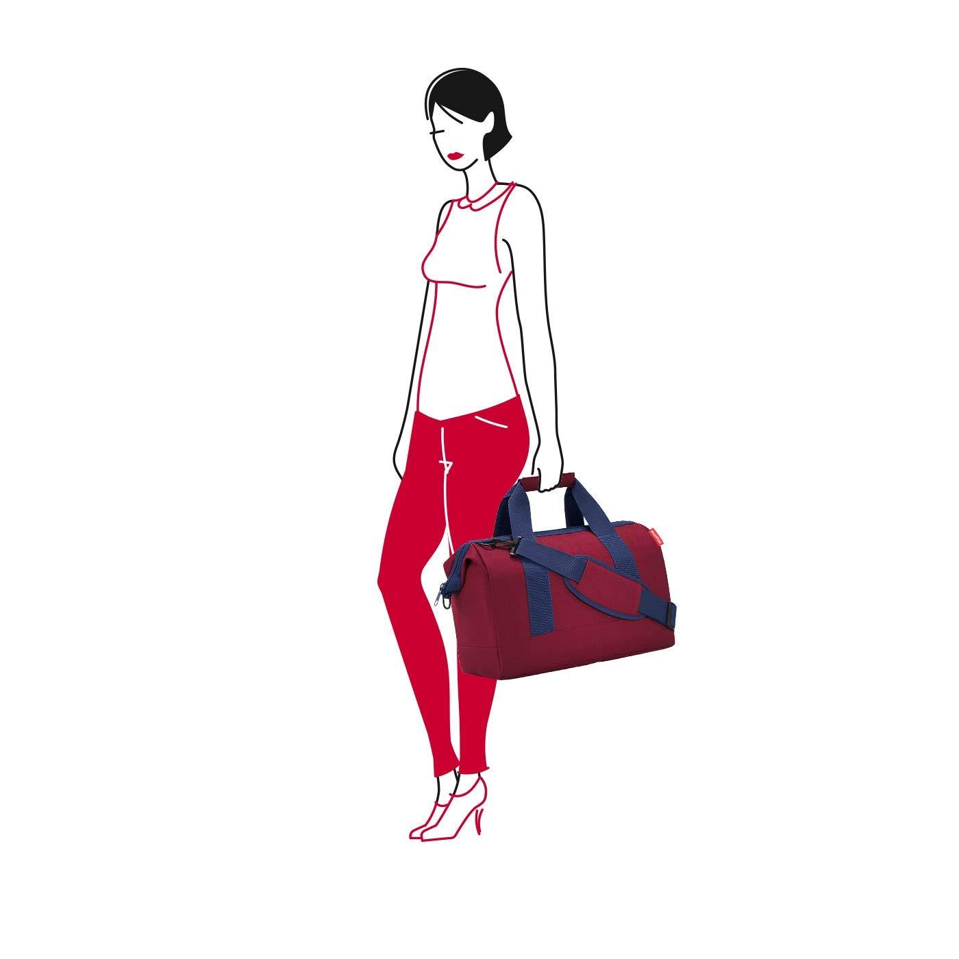 reisenthel Allrounder M Medium Weekender Bag Versatile 6-Pocket Padded Duffel Black