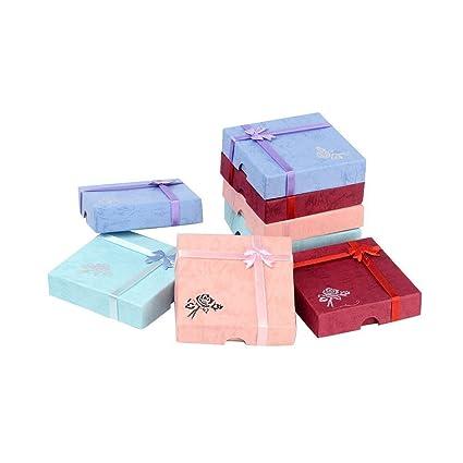 PandaHall-Precio por 6 pcs Pulsera Cajas de Cartón con flor, esponja y tela
