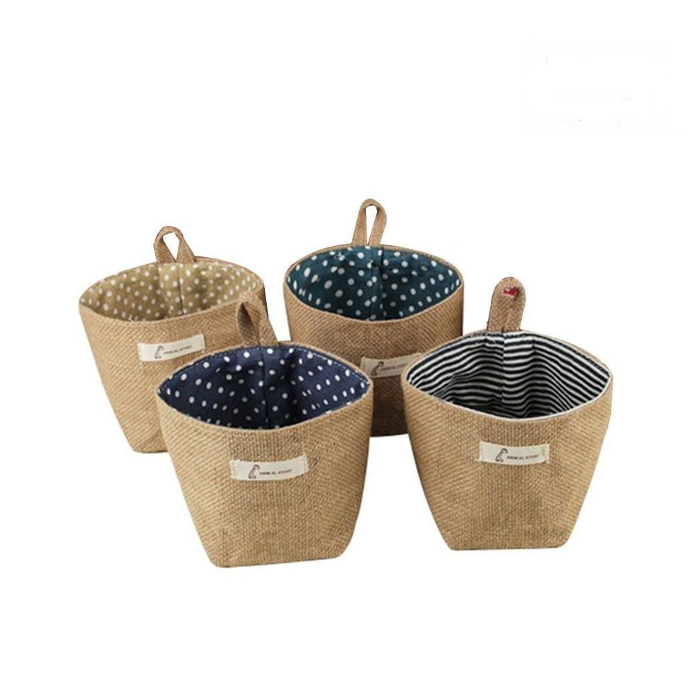 4 Pack Linen Closet Organizer Bag Aolvo Wall Door Closet Hanging Storage Bag Bin Garden Tool Bag Tote