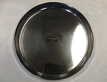 Vinod - Placa de acero inoxidable Thali/Kumcha (29 cm ...
