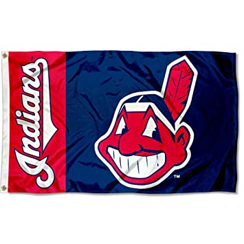 size 40 fa80c f83f1 Cleveland Indians Flag 3x5 MLB Banner
