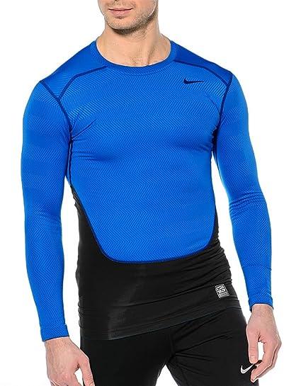 5d356aae9169 Amazon.com  Nike Pro Combat Hyperwarm Compression LS Small Shirt ...