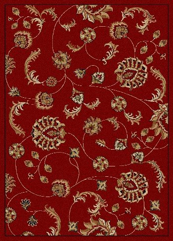 picture of Radici 1835 COMO Rugs, 2-Feet 2 by 7-Feet 7-Feet, Red