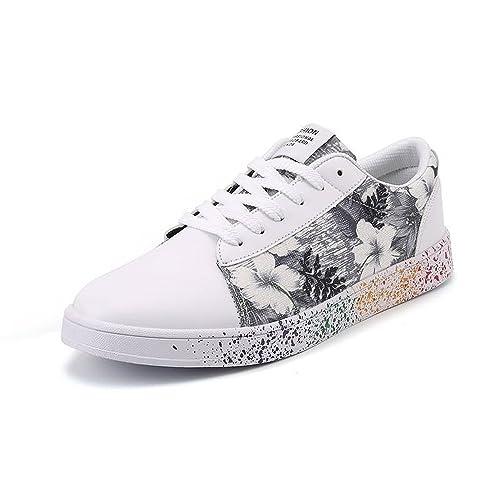 Otoño/Verano 2018 Zapatillas de Deporte de Moda para Hombre y para Mujer Nueva impresión de Lienzo Casual con inyección de Tinta Juventud: Amazon.es: ...
