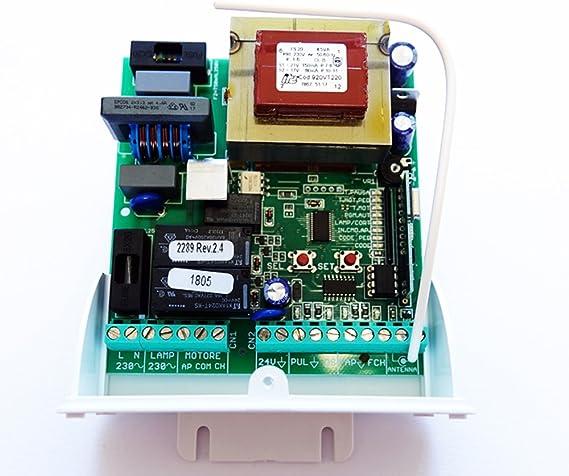 SEAV LRS 2102 - Placa central universal para puerta corredera (230 V): Amazon.es: Bricolaje y herramientas