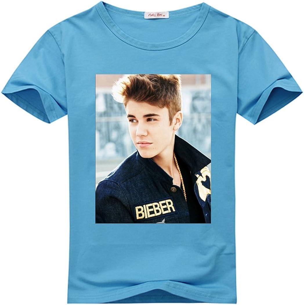 adamwilson Justin Bieber niña manga corta camiseta Tops cielo ...