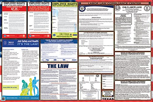 Texas / Federal Combination Labor Law Posters (New)!